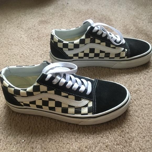 Vans Shoes Old Skool Black White Checkered Poshmark